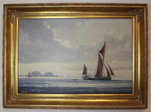 Jack Rigg Oil on Canvas Painting 'Off Bradwell' (1 of 1)