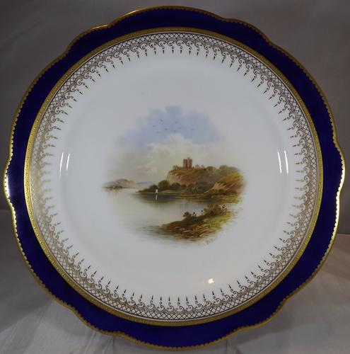 Coalport Cabinet Plate Dunolly Castle by E.O. Ball (1 of 1)
