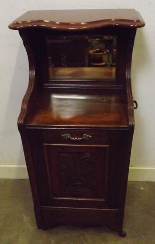 Victorian Mahogany Mirror-Backed Coal Purdonium C.1880 (1 of 1)