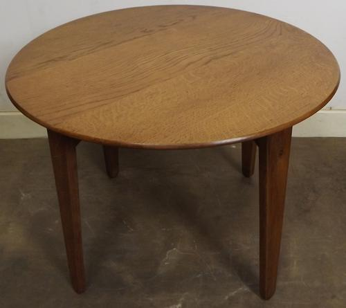 Vintage Gordon Russell Oak Circular Coffee Table (1 of 1)