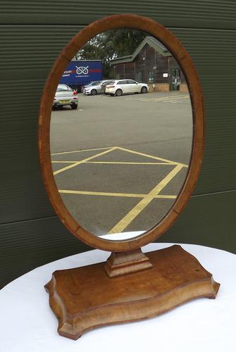 Victorian Mahogany Serpentine Dressing Mirror (1 of 1)