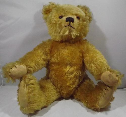 """Vintage 18"""" English Mohair Teddy Bear (1 of 1)"""