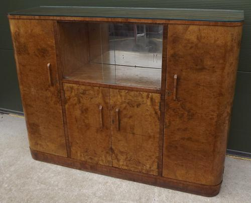 Lovely Walnut Art Deco Cocktail Cabinet Sideboard (1 of 1)