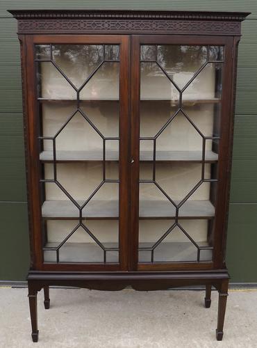 Edwardian Mahogany Astral-Glazed Display Cabinet (1 of 1)