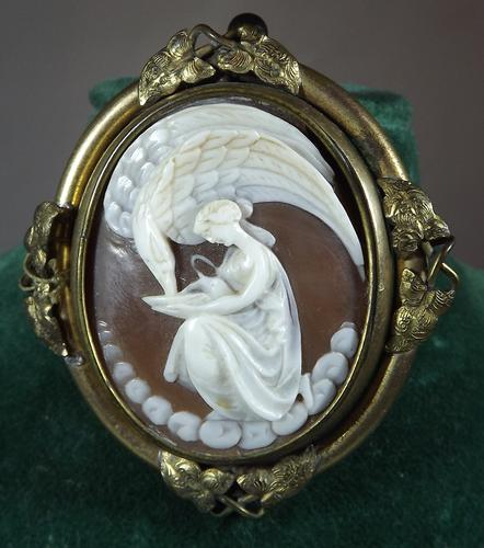 Victorian Rotating Mourning Brooch with Cameo (1 of 1)
