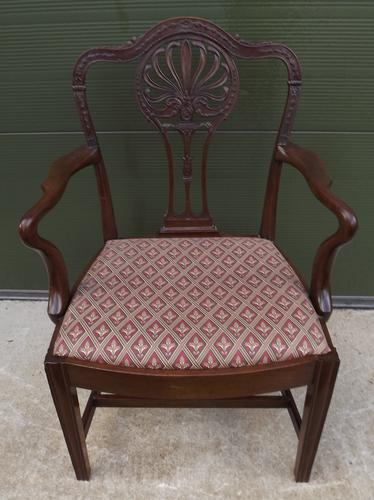 Victorian Mahogany Carver Armchair in the Chippendale Style (1 of 1)