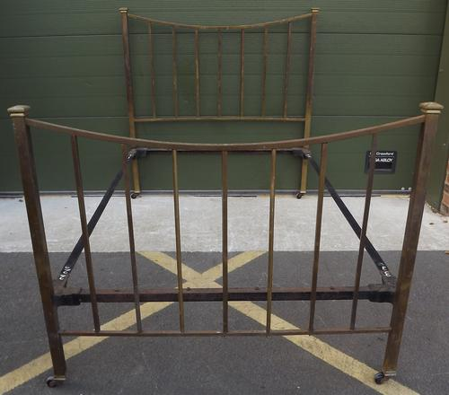 Victorian Brass Double Bed Frame (1 of 1)
