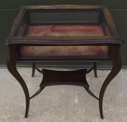 Edwardian Glazed Mahogany Bijouterie Table (1 of 1)