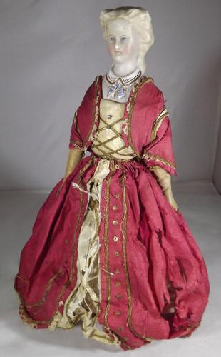 Superb Victorian Clockwork Walking Doll (1 of 1)