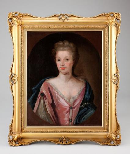 Large 18th Century Oil Portrait of a Lady Manner of Michael Dahl (1 of 3)