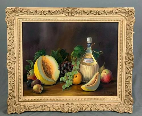 Still Life Fruit Oil Painting in Gallery Frame (1 of 6)