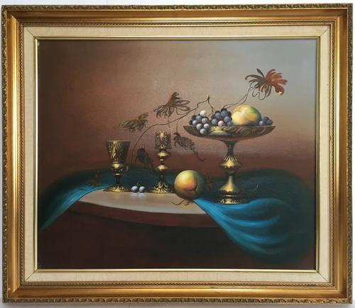 Still Life Fruit Oil Painting by Jozsef Molnar (1 of 7)