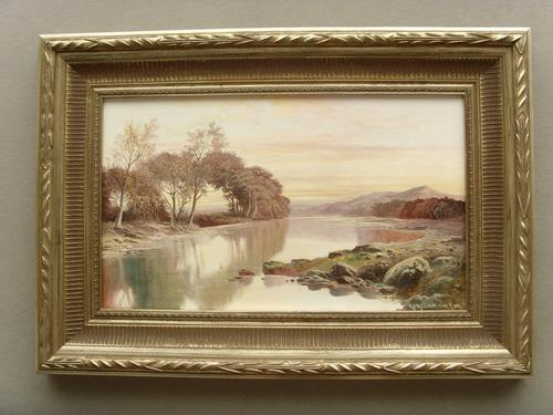 River Landscape Oil Painting by Arthur F. Allwright (1 of 1)