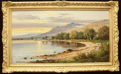 Scottish Landscape Oil Painting At Sunset Signed by William Mcgregor (1 of 1)