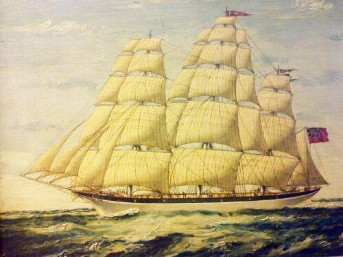 Seascape Oil Painting of 'Clipper Saling in Choppy Seas' (1 of 4)