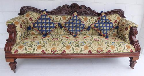Early Victorian Mahogany Four Seat Sofa c.1837 (1 of 1)