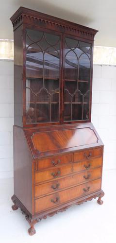 Chippendale Style Bureau Bookcase c.1900 (1 of 1)