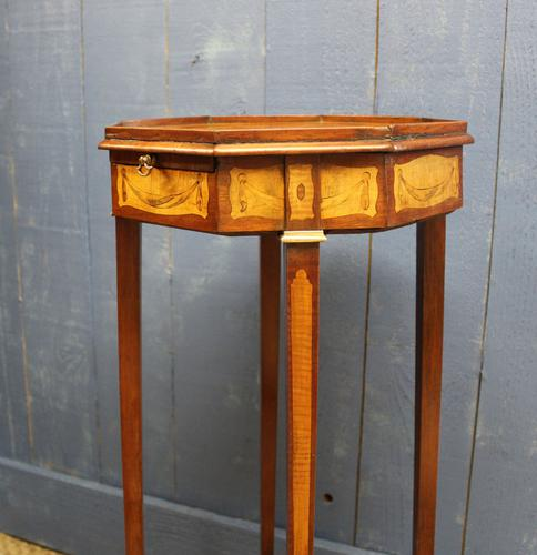 19th Century Mahogany & Satinwood Neoclassical Urn Stand C.1890 (1 of 12)