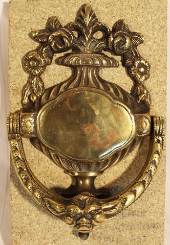 Antique Cast Brass Door Knocker (1 of 1)