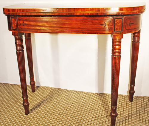 Regency Inlaid Mahogany Card or Games, Table (1 of 7)