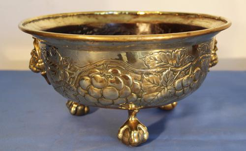 Victorian Brass Fruit Bowl (1 of 1)