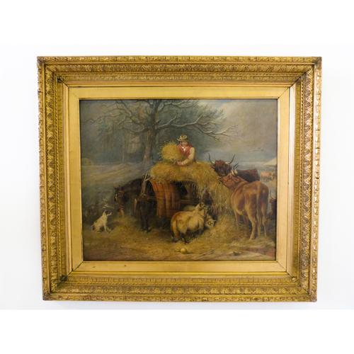 Fine Victorian Oil Painting On Canvas By Edward Lloyd c.1875 (1 of 4)
