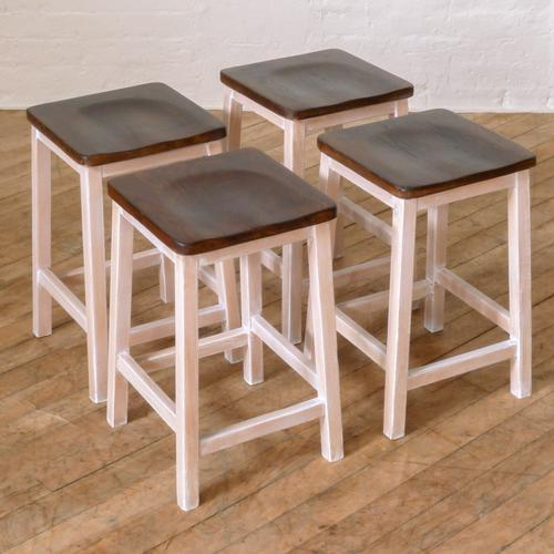 Set of Four Chemistry Laboratory Stools (1 of 8)