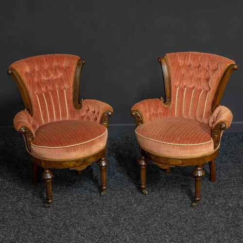 Pair of Boudoir Chairs c.1890 (1 of 11)