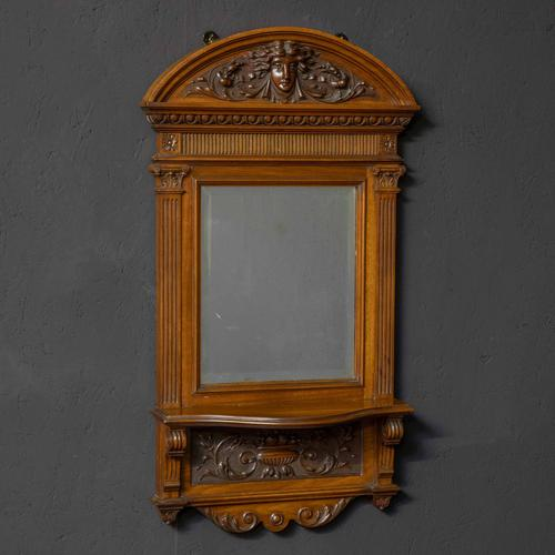 Victorian Walnut Hall Mirror (1 of 8)