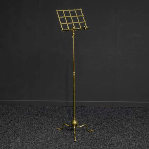 Edwardian Brass Music Stand (1 of 8)