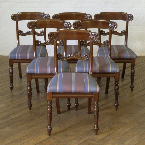 Set of 6 William IV Mahogany Chairs c.1835 (1 of 8)