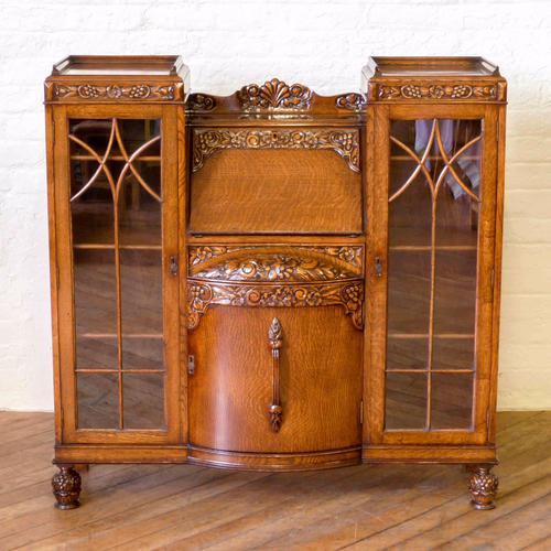Oak Cabinet / Bookcase c.1920 (1 of 1)