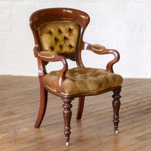 Victorian Mahogany Desk Chair (1 of 1)