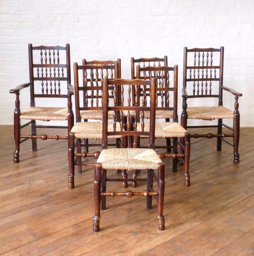 Set of 8 Lancashire Spindleback Chairs (1 of 1)