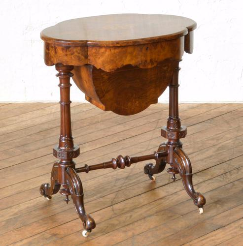 Victorian Walnut Sewing Table (1 of 1)