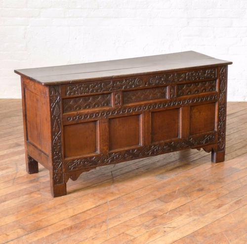 17th Century Oak Coffer (1 of 10)