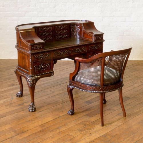 Victorian Mahogany Carlton House Desk (1 of 1)