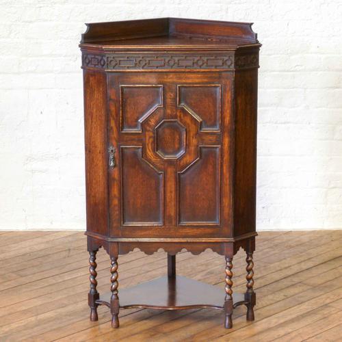 Jacobean Style Oak Corner Cupboard (1 of 1)