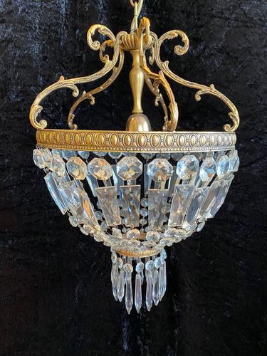 A French Small Bag Antique Chandelier (1 of 12)