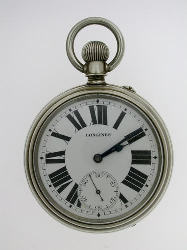Exclusive Longines Railway Canada Open Face Pocket Watch Swiss 1890 (1 of 1)