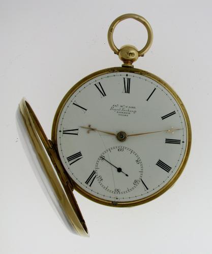 Superb 18 Kt Yellow gold James McCabe, Royal Exchange, N° 00085, London 1844 (1 of 1)