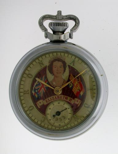 Queen's Coronation Novelty Pocket Watch 1953 (1 of 1)