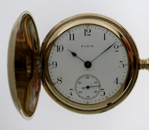Elgin Gold Plated Full Hunter Pocket Watch 1900 (1 of 1)