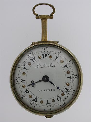 Le Roy a Paris Verge Open Face Copper Pocket Watch made for Turkish Market French 1820 (1 of 1)