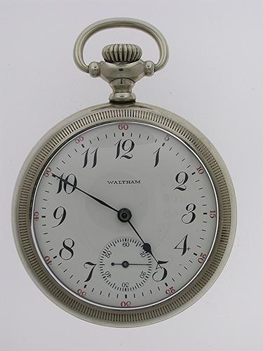 Waltham Skeleton Open Face Pocket Watch USA 1920 (1 of 1)