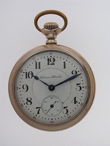 Hampden Watch Co Gold Filled Open Face Railway Pocket Watch USA 1920 (1 of 1)