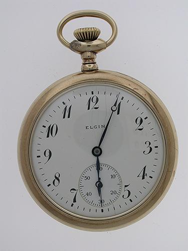 Elgin USA Gold Filled Open Face Pocket Watch 1900 (1 of 1)