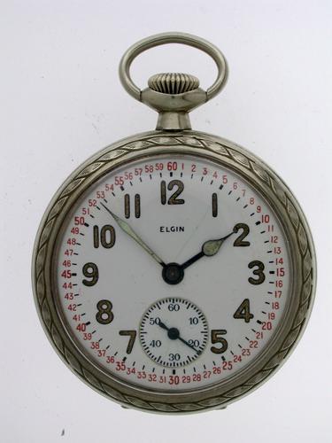 Elgin USA Steel Railroad Pocket Watch 1920 (1 of 1)