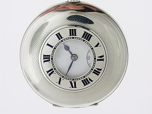 Excellent Half Hunter Silver Pocket Watch Swiss Made London Import Hallmark 1918 (1 of 1)