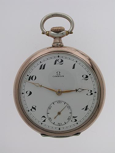 Original Omega Silver 0.800 Open Face  Pocket Watch Swiss 1919 (1 of 1)